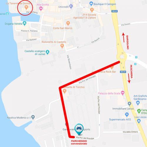 contatti Mappa parking Suite oreste